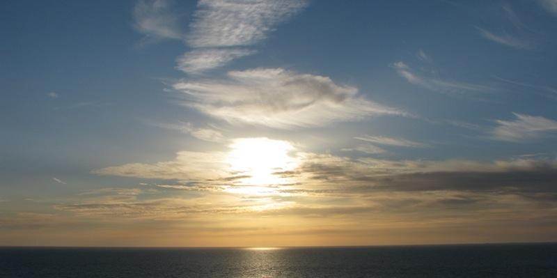 Coucher de soleil bleu